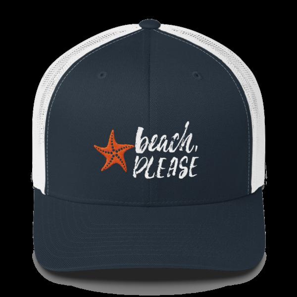 68e7abbcd94 Beach, Please Trucker Hat
